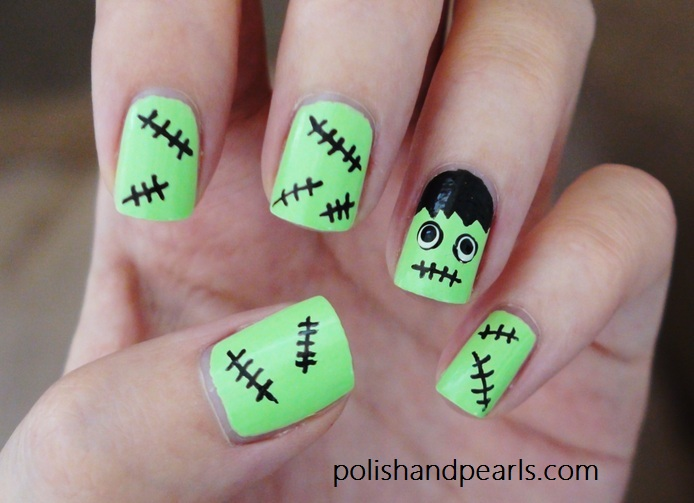 Frankenstein Nail Design for Halloween